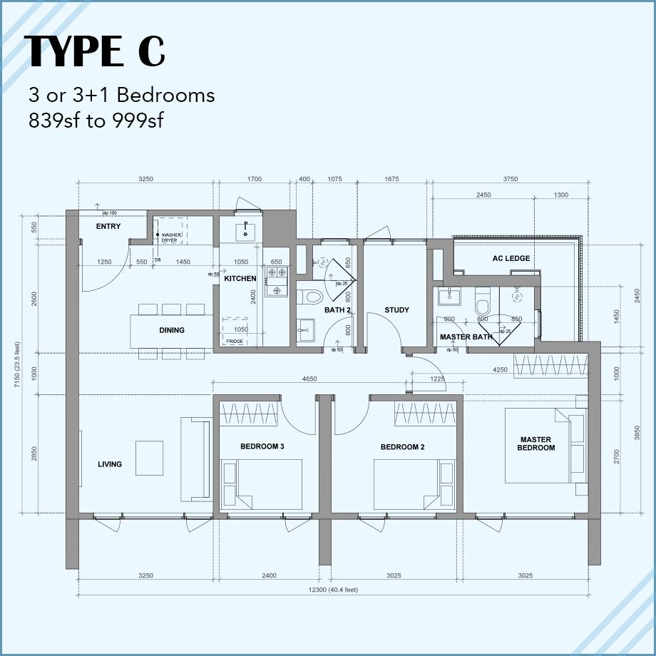 Type C: 3R 2B 1CP